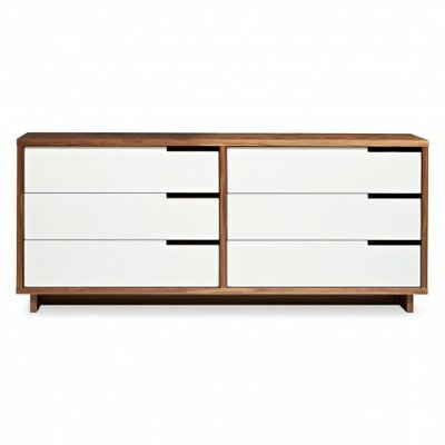 Modu-Licious 6 Drawer Double Dresser Color: Walnut