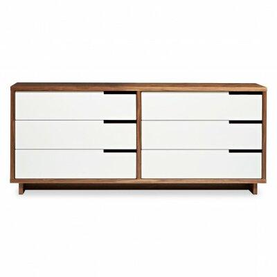 Modu-Licious 6 Drawer Double Dresser Color: Walnut