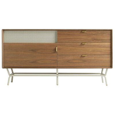 Dang 56 TV Stand Color: Walnut on Grey