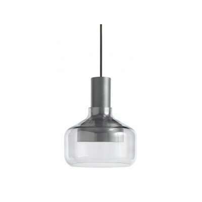 Trace Drum Pendant Base Color: Charcoal / Grey