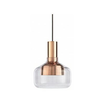 Trace Drum Pendant Base Color: Copper / Grey