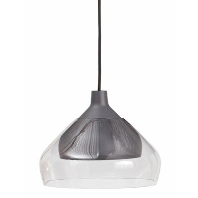 Trace 1-Light Mini Pendant Finish: Charcoal