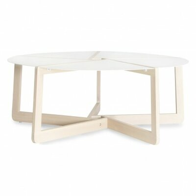Pi Coffee Table Color: White Ash