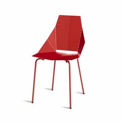 Real Good Side Chair Finish: Red / Red, Upholstery: None