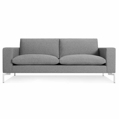 The New Standard Sofa Upholstery: Spitzer Grey, Leg Finish: White