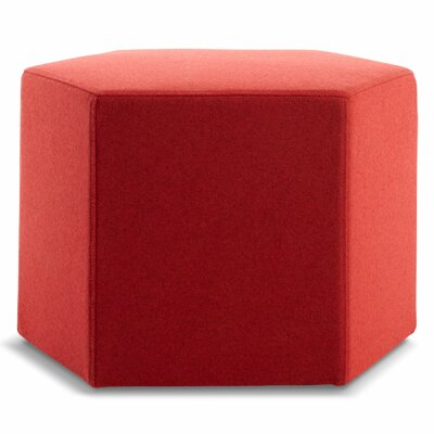Hecks Ottoman Body Fabric: Thurmond Red