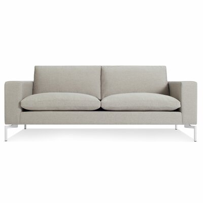 New Standard 78 Sofa Body Fabric: Nixon Sand, Leg Color: White
