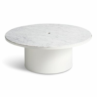 Plateau Coffee Table Table Base Color: White