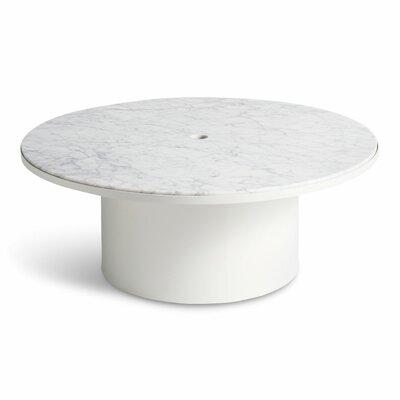 Plateau Coffee Table Table Base Color: White