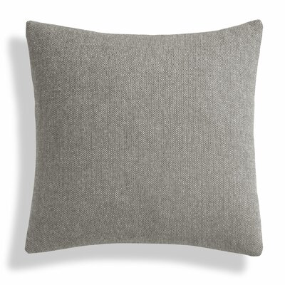 Signal Square Pillow Size: 18 H x 18 W x 6.5 D, Color: Charcoal