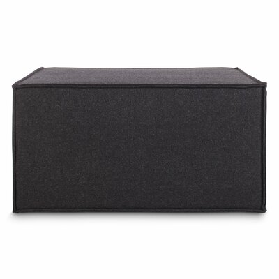 Quotto Cube Ottoman Body Fabric: Thurmond Charcoal