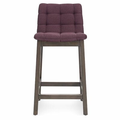 25.6 inch Bar Stool Upholstery: Purple