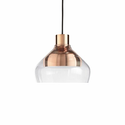 Trace 1-Light Mini Pendant Color: Copper / Grey