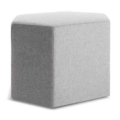Hecks Ottoman Body Fabric: Thurmond Light Grey