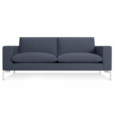 New Standard 78 Sofa Body Fabric: Nixon Blue, Leg Color: White