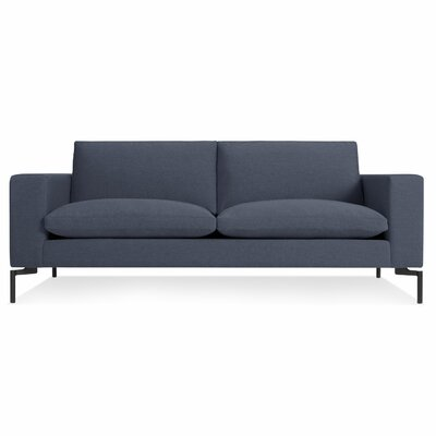 New Standard 78 Sofa Body Fabric: Nixon Blue, Leg Color: Black