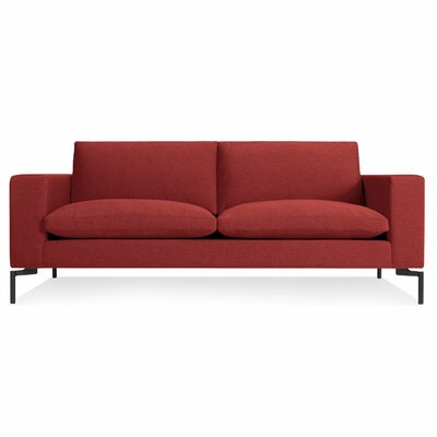The New Standard Sofa Leg Finish: Black, Upholstery: Nixon Red