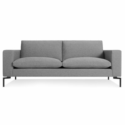 New Standard 78 Sofa Body Fabric: Spitzer Grey, Leg Color: Black