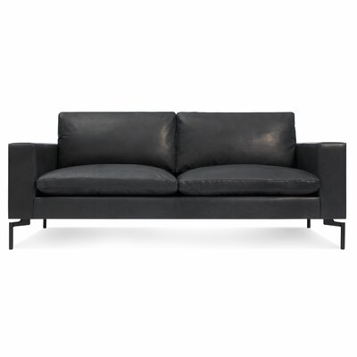The New Standard Leather Sofa Upholstery: Black