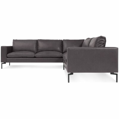The New Standard Leather Sectional Upholstery: Dark Brown