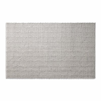 Weft Light Gray / Light Heathered Gray Area Rug Rug Size: 5 x 8