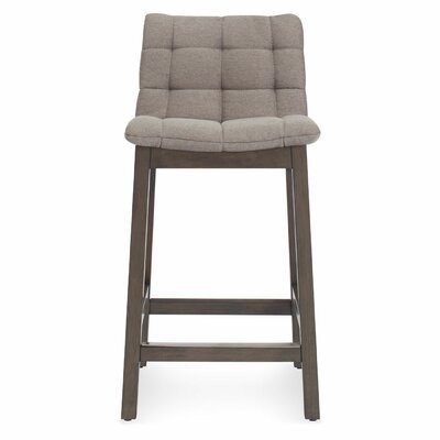25.6 Bar Stool Upholstery: Pewter