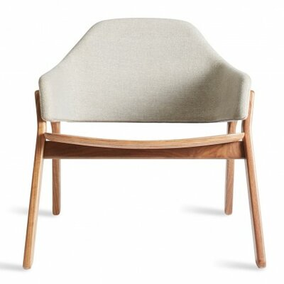 Clutch Lounge Chair Base Finish: Walnut, Back Color: Packwood Charcoal