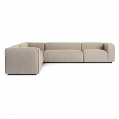 Cleon Large Sectional Upholstery: Cement