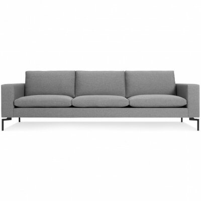 The New Standard Sofa Body Fabric: Spitzer Grey, Leg Color: Black