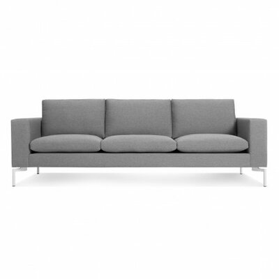 The New Standard Sofa Upholstery: Spitzer Grey, Leg Finish: White