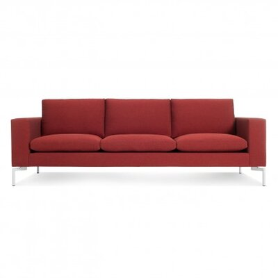 The New Standard Sofa Upholstery: Nixon Red, Leg Finish: White