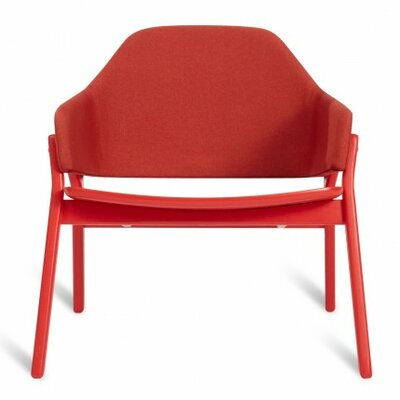 Clutch Lounge Chair Upholstery: Red on Ash, Color: Red