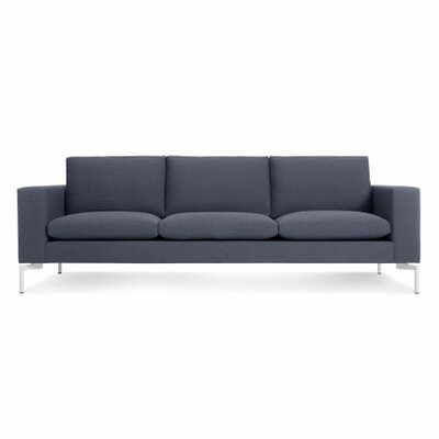 The New Standard Sofa Body Fabric: Nixon Blue, Leg Color: White