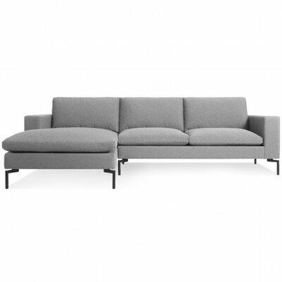 The New Standard Sectional Collection Body Fabric: Spitzer Grey, Leg Color: Black