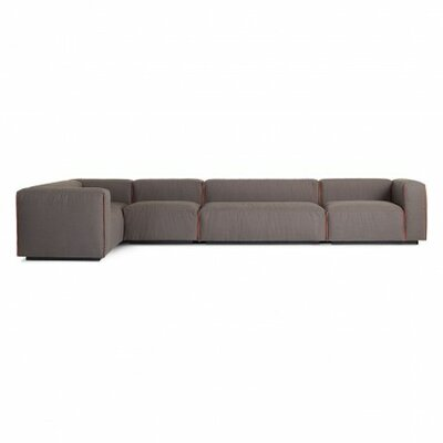Cleon Large Modular Sectional Upholstery: Basalt