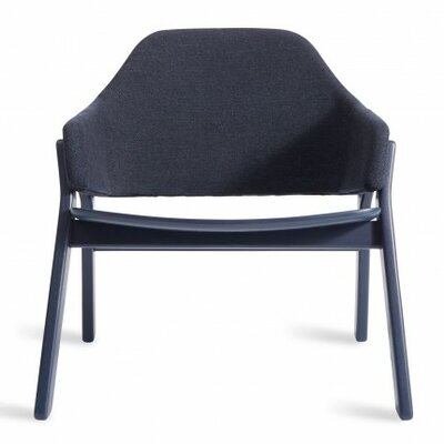 Clutch Lounge Chair Upholstery: Navy on Ash, Finish: Navy