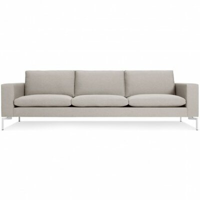 The New Standard Sofa Upholstery: Nixon Sand, Leg Finish: White