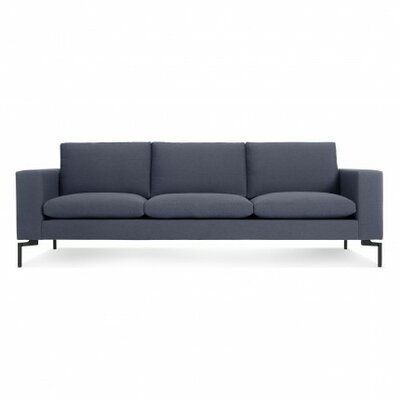 The New Standard Sofa Upholstery: Nixon Blue, Leg Finish: Black