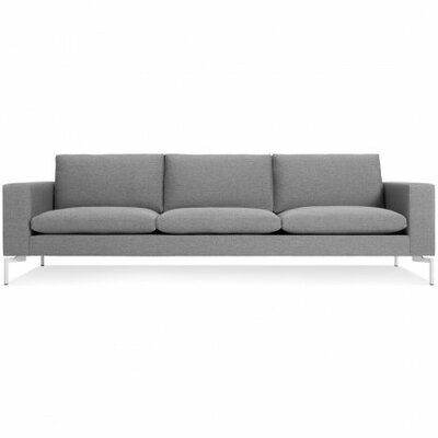 The New Standard Sofa Leg Finish: White, Upholstery: Spitzer Grey