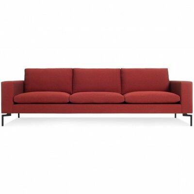 The New Standard Sofa Upholstery: Nixon Red, Leg Finish: Black