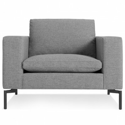 The New Standard Armchair Leg Finish: Black, Upholstery: Spitzer Grey