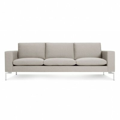 The New Standard Sofa Upholstery: Nixon Sand, Leg Finish: White