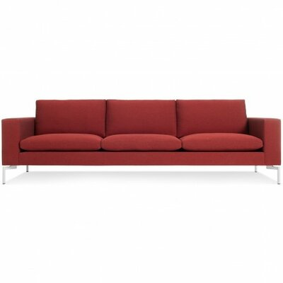 The New Standard Sofa Upholstery: Nixon Red, Leg Finish: White