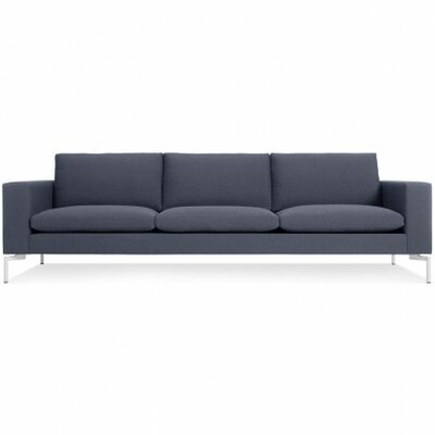 The New Standard Sofa Upholstery: Nixon Blue, Leg Finish: White