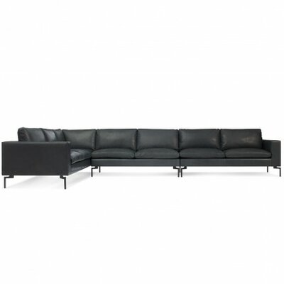 The New Standard Leather Sectional Upholstery: Black