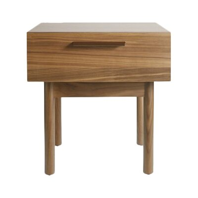 Shale 1 Drawer Nightstand Color: Dark Walnut
