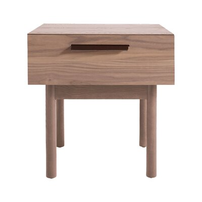 Shale 1 Drawer Nightstand Finish: Light Walnut
