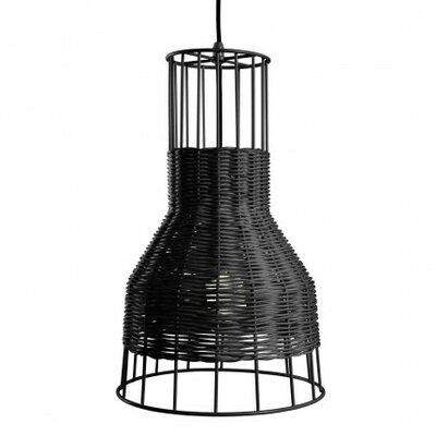 Laika 1-Light Small Pendant Color: Black