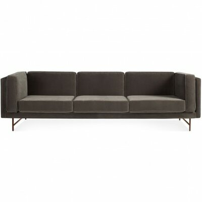 Bank 96 Sofa Leg Color: Brass Legs, Body Fabric: Mink Velvet