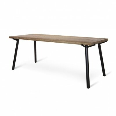 Branch Dining Table Size: 91 W, Leg Finish: Grey, Top Finish: Natural